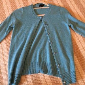 J. Crew Blue Cashmere Sweater